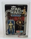 Star Wars C-3PO AFA 85 Vintage Graded Palitoy 12 Back A